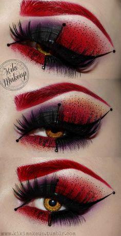 Kiki Makeup - Harley Quinn inspired kikimakeup.tumblr.com
