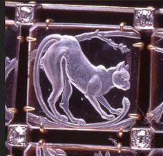 Lalique - Cats Choker - detail