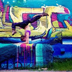 """Soren on Instagram: """"""""It is not the strength of the body that counts, but the strength of the spirit.""""  -J.R.R. Tolkien  this insanely creative use of space is by Chicago Artist @amuse.126 who's art always lifts my spirits!  wearing pants by @bohemian_island"""""""