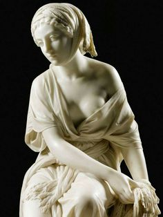 Giovanni Battista Lombardi - Ruth, 1864 - White marble on a veined white marble column statue (inc. Italian Sculptors, Art Sculpture, Metal Sculptures, Abstract Sculpture, Bronze Sculpture, Oeuvre D'art, Portrait, Human Body, Sculpting