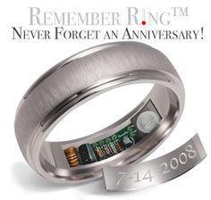 Wedding Ring with Built In Anniversary Reminder