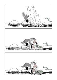 Funny Animal Comics, Cute Comics, Cute Wolf Drawings, Animal Drawings, Anime Wolf, Manga Anime, Funny Wolf, Wolf Comics, Furry Comic