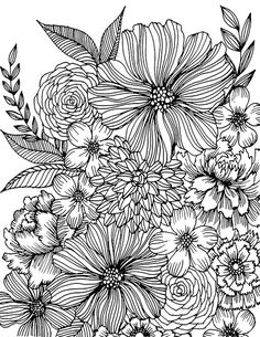 465 best floral coloring pages for adults images on pinterest in