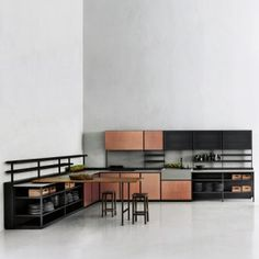 Patricia+Urquiola's+Salinas+system+for+Boffi++is+based+on+her+grandfather's+kitchen