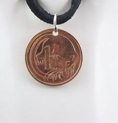 Possum Coin Necklace by AutumnWindsJewelry on Etsy