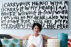 Turn your favorite poem, quote, or song lyrics into bold wall art with this simple tutorial.