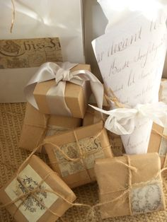 Brown Paper Packages Tied Up With String: Put some of these empty boxes under the tree.