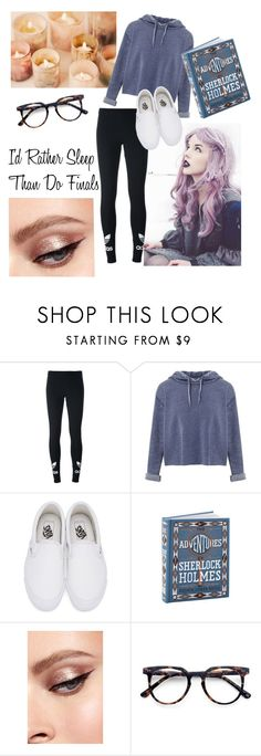 """""""Finals Week....."""" by merylrs ❤ liked on Polyvore featuring adidas Originals, Miss Selfridge and Vans"""
