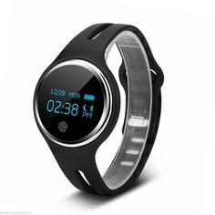 Waterproof Bluetooth 4.0 Bracelet Smart Watch Sport Health Pedometer Sleep Track Black
