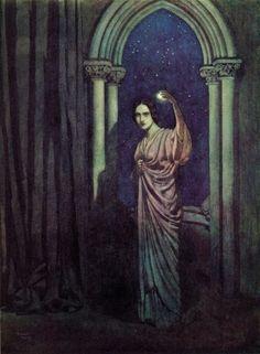 Edmund Dulac - Edgar Alan Poe poems -To Helen