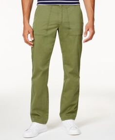 Club Room Men's Jermaine Utility Pants, Only at Macy's - Green 30x30