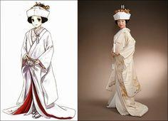 Shiromuku (白無垢) : Japanese Traditional Wedding Attire Japanese Costume, Japanese Kimono, Traditional Wedding Attire, Traditional Dresses, Kimono Tutorial, Anime Wedding, Costumes Around The World, Culture, Silk Road