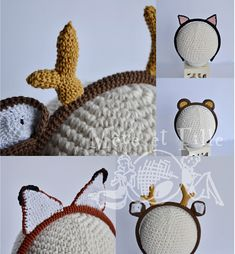 Ravelry: Woodland animals headbands pattern by Hatty Nady for Mère et Fille Tricots Woodland Creatures, Woodland Animals, Headband Pattern, Ravelry, Headbands, Crochet Hats, Crafts, Knits, Forest Animals