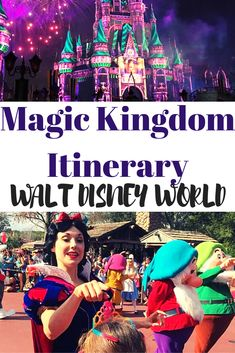Magic Kingdom Itinerary for your Walt Disney World Vacation. Includes FastPass tips and how to plan your day at the Magic Kingdom. hacks for teens girl should know acne eyeliner for hair makeup skincare Voyage Disney World, Disney World Magic Kingdom, Disney World Parks, Disney World Planning, Walt Disney World Vacations, Disney World Resorts, Disney Travel, Disney Destinations, Disney Worlds
