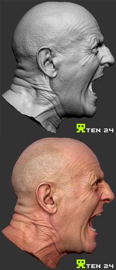 Drakensang 3d Scans by Chris Rawlinson, via Behance