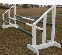 Amazon.com: Triple Bar Standards Wood Horse Jumps 5ft: Sports & Outdoors