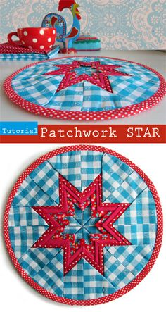 Tutorial: Folded PATCHWORK star. By Handwerkjuffie.