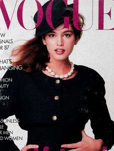 Cindy Crawford was becoming the head of the fashion industry!