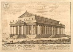 Erlach. 003- El templo de Diana en Efeso-Entwurf einer historischen Architektur 1721- © Universitätsbibliothek Heidelberg