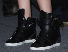 Kristen Stewart in Barbara Bui leather sneakers