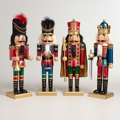 Tall Traditional Nutcrackers, Set of 4 | World Market