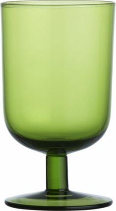 curve short green wine glass  | CB2