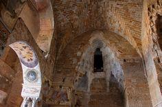 Italy - Palermo, Zisa (interior) | beehive decorations (mugarnas)