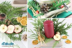 Weihnachtsgesteck aus Naturmaterialien selber machen