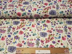 Milliblu's floral Harmony elastic twill Jeans weiß milliblus