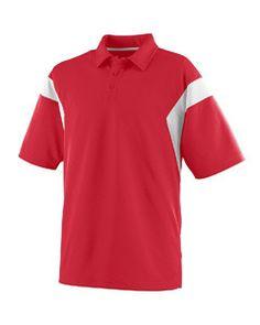 Augusta Wicking Textured Sideline Sport Shirt 5075 RED/WHITE
