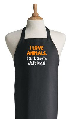 I Love Animals. I Think They're Delicious Funny BBQ by CoolAprons