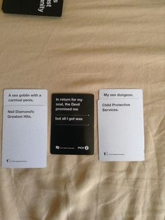 The second one tho Funny Gags, Stupid Funny Memes, The Funny, Funny Quotes, Hilarious, Cards Vs Humanity, Funniest Cards Against Humanity, Disney Cards, Disney Disney