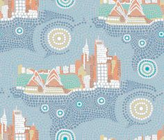 Sydney fabric by un_temps_de_coton on Spoonflower - custom fabric