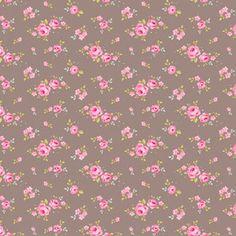 Tilda fabric Mini Rose Grey Brown 0,5m