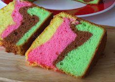 My Kitchen Snippets: Rainbow Chiffon Cake Chiffon Cake, Cake Cookies, Cornbread, Rainbow, Ethnic Recipes, Desserts, Cakes, Food, Kitchen
