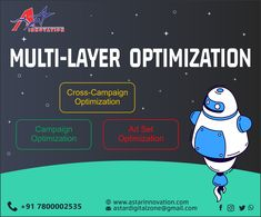 We provide the digital presence of your organization, build its online reputation, and help you gain a competitive edge as well as enlighten you about the unique benefits offered by online marketing strategies.A- Star Innovation build your online preference with new rising trend Multi-Layer-Optimization  Visit: www.astarinnovation.com Contact: +91-7800002535  #DigitalMarketer #DigitalMarketingAgency #MultiLayerOptimization #CrossCampaign #AdsCampaign #CampaignOptimization #AStarInnovation Online Marketing, Digital Marketing, Out Of Home Advertising, Different Media, Marketing Strategies, Gain, Innovation, Campaign, Layers