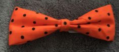 ORANGE AND BLACK POLKADOT HAIR BOW GREAT FOR HALLOWEEN - available on therubypig.com