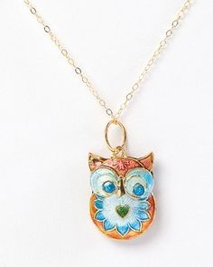 Fay Owl Necklace - Red $55 #SF #Covet