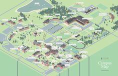 TU Campus Map - Luke Shuman Design