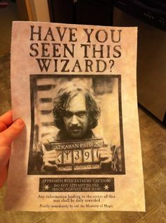 Print out some WANTED posters to hang up all over your house.