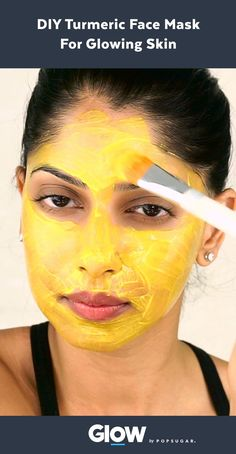 Make this three-ingredient DIY turmeric face mask for clear, glowing skin.