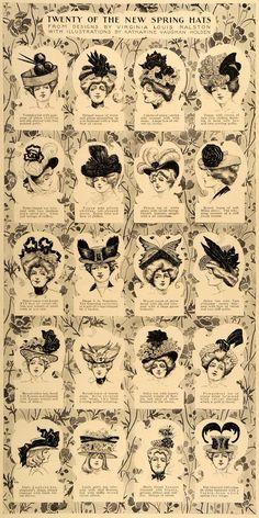 K V Holden - Sombreros de la colección de primavera de V L Ralston Vaughn Holden (¿1900?)