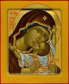 Кардиотисса (Сердечная) икона Божией Матери Religious Images, Religious Icons, Religious Art, Russian Icons, Russian Art, Images Of Mary, Sign Of The Cross, Divine Mother, Best Icons