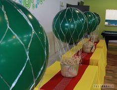 Welcome to the Emerald City: Decor, possible centerpieces Birthday Party Table Decorations, Birthday Party Tables, Party Themes, Party Ideas, Theme Ideas, Army's Birthday, Gala Themes, Birthday Ideas, Birthday Cards