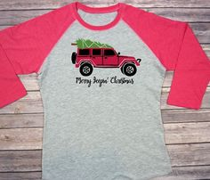 Merry Jeepin' Christmas Jeep Wrangler Jeep by twobluechihuahuas
