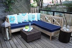 Outdoor Sectional - complete instructions are on Ana White's site