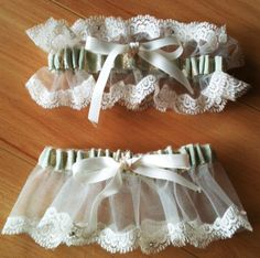June wedding contest - One lucky person will receive an earth conscious garter set made from reprocessed materials and adorned with lace and Swarovski crystals