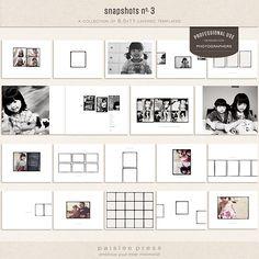 professional album templates.....clean design!
