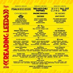 Reading & Leeds Festival 2016 line-up