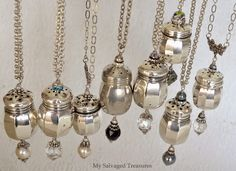 My Salvaged Treasures: Salt & Pepper Shaker Necklaces